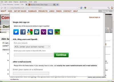a screenshot from Firefox—rare!